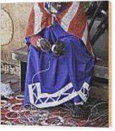 Maasai Woman Wood Print