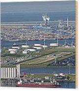 Maasvlakte, Europort, Rotterdam Wood Print by Bram van de Biezen