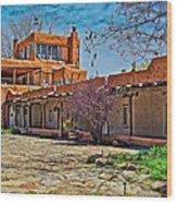 Mabel Dodge Luhan's Courtyard Wood Print