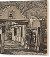 Mabel's Gate - A Different View Wood Print