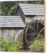 Mabry Mill Close Up Wood Print