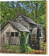 Mabry Mill Wood Print by Heather Allen