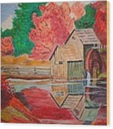 Mabry Mill On The Blue Ridge Parkway Wood Print
