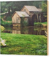 Mabrys Mill And The Welcoming Committee Wood Print