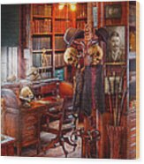 Macabre - In The Headhunters Study Wood Print
