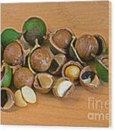 Macadamia Nuts Wood Print