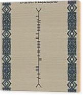 Macaleese Written In Ogham Wood Print