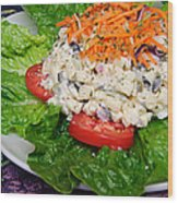 Macaroni Salad 2 Wood Print by Andee Design