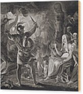 Macbeth, The Three Witches And Hecate Wood Print