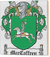 Maccaffery Coat Of Arms Irish Wood Print