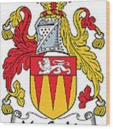 Maccashin Coat Of Arms Irish Wood Print