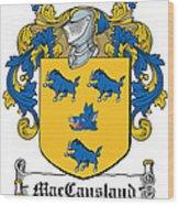 Maccausland Coat Of Arms Irish Wood Print