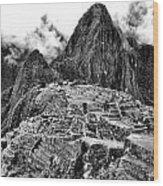 Macchu Picchu Wood Print