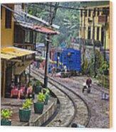 Macchu Picchu Town - Peru Wood Print