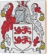 Macclancy Coat Of Arms Irish Wood Print