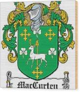 Maccurten Coat Of Arms Irish Wood Print