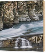 Macdonald Creek Falls Glacier National Park Wood Print