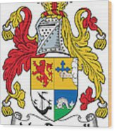 Macdonnell Coat Of Arms Of The Glens Wood Print