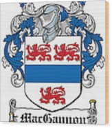 Macgannon Coat Of Arms Irish Wood Print
