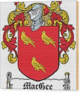 Macgee Coat Of Arms I Irish Wood Print