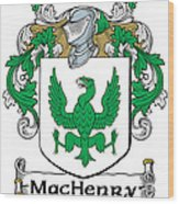 Machenry Coat Of Arms Ulster Ireland Wood Print