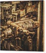 Machine Part Wood Print