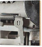 Machine Parts Wood Print