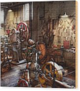 Machinist - A Room Full Of Memories  Wood Print by Mike Savad