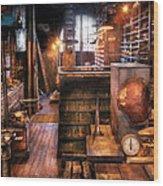 Machinist - Ed's Stock Room Wood Print by Mike Savad