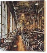 Machinist - Machine Shop Circa 1900's Wood Print by Mike Savad