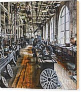 Machinist - Precision Matters Wood Print by Paul Ward