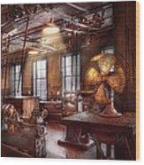 Machinist - The Fan Club Wood Print by Mike Savad