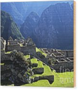 Machu Picchu And Urubamba Canyon Wood Print