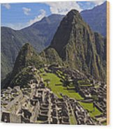 Machu Picchu Wood Print