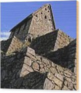 Machu Picchu Hut Peru Wood Print