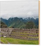 Machu Picchu Main Square And The Group Of The Three Doorways Wood Print