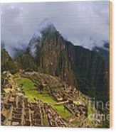Machu Picchu Overlook Wood Print
