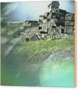 Machu Picchu Reflection Wood Print
