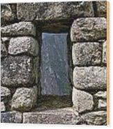 Machu Picchu Window Wood Print