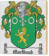 Machugh Coat Of Arms Irish Wood Print