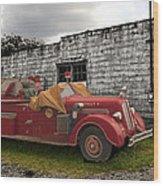 Mack Firetruck Wood Print