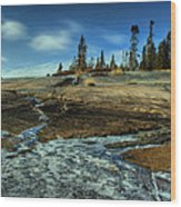 Mackenzie Point Outcrop Wood Print