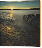 Mackenzie Point September Sunrize Wood Print