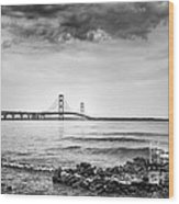 Mackinac Bridge Wood Print