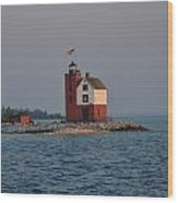 Mackinac Lighthouse Wood Print