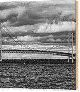 Mackinaw Black And White Wood Print