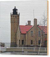 Mackinaw Point Lighthouse Wood Print