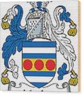 Maclea Coat Of Arms Irish Wood Print