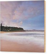 Macmasters Sunset 2 Wood Print by Steve Caldwell