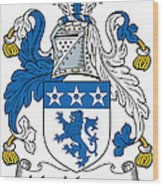 Macmurray Coat Of Arms Irish Wood Print